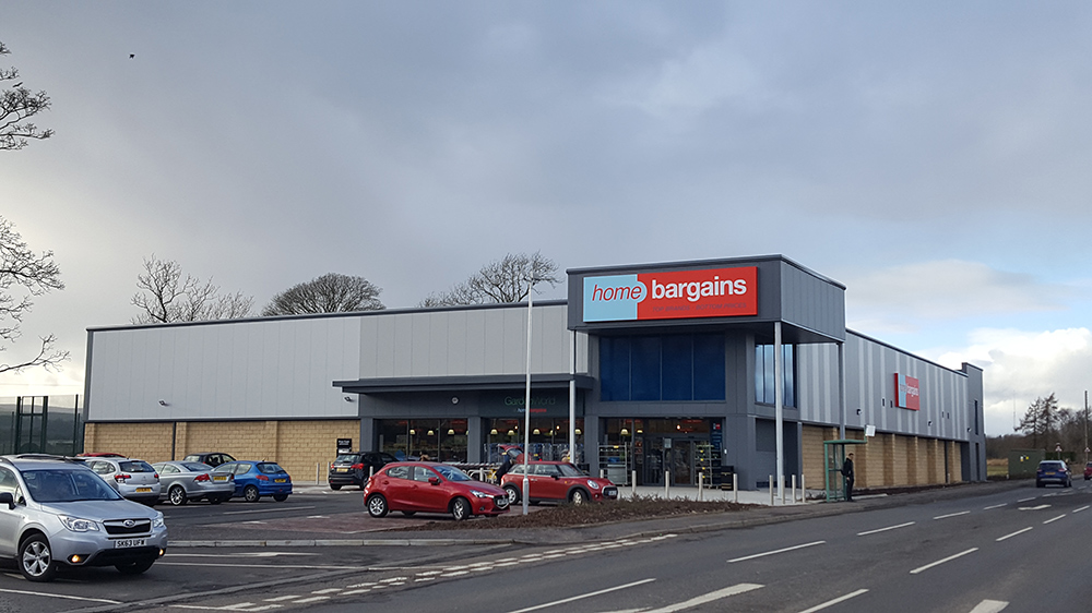 The new 22,500 sqft Home Bargains in Stirling